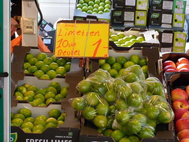 Limetten Obst Fischmarkt