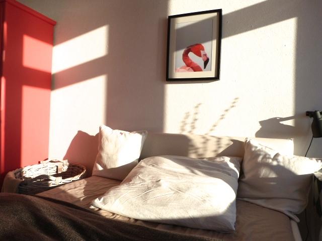 Schlafzimmer Flamingo Bild