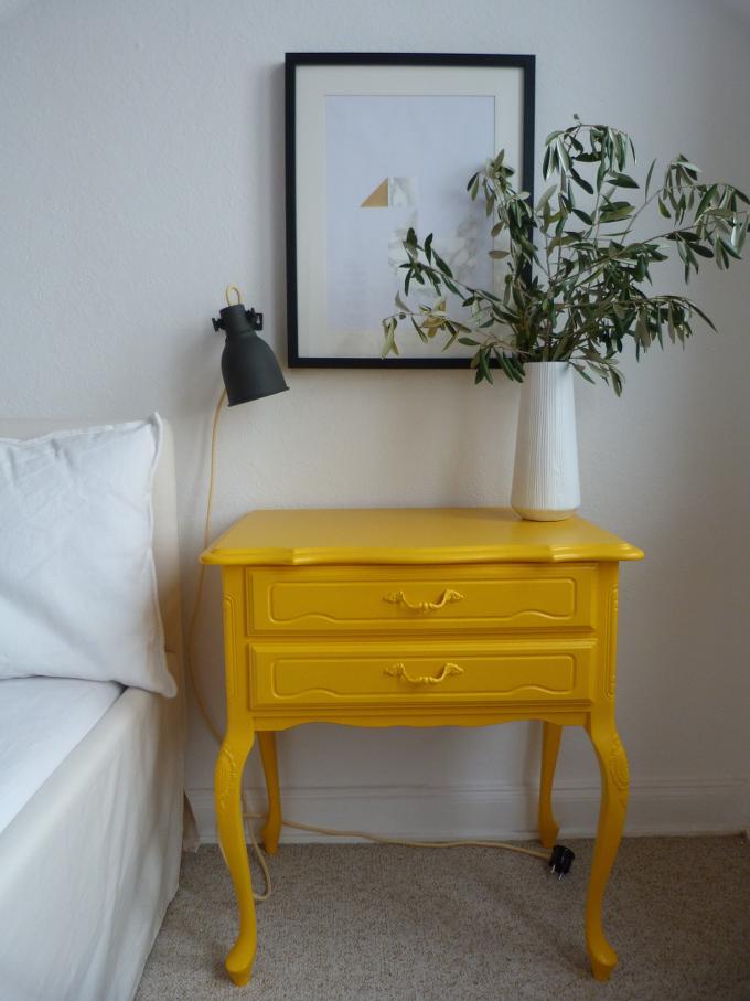 Ikea Hektor DIY Textilkabel gelb fertig