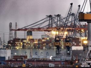 Hafen Abend Hamburg