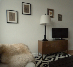 Fernsehecke Ikea PS Schrank lackiert
