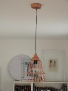 Kupfer Pendantlampe Metallkorb 2