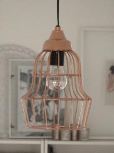 Kupfer Pendantlampe Metallkorb