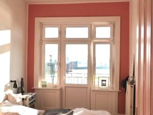 Schlafzimmer Fensterfront
