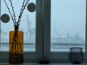 Wohnzimmerfenster Deko