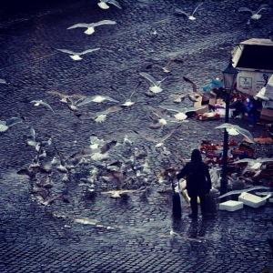 Spaete Fischmarktbesucher