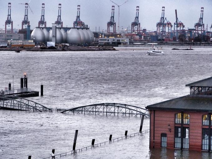 Hochwasser Fischmarkt Januar 2015