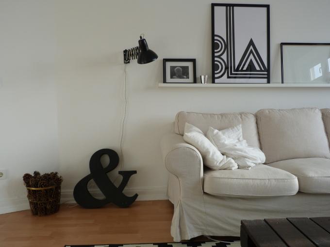 Ikea Tertial Scherenlampe im Wohnzimmer