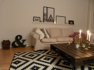 Wohnzimmer neu dekoriert Seite