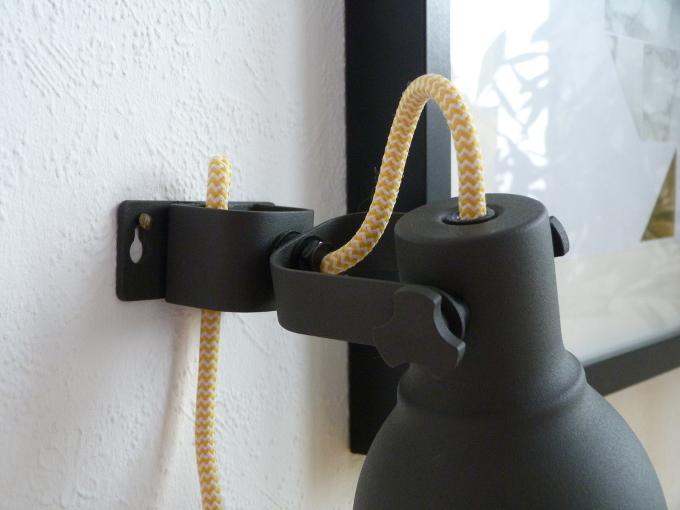 Ikea Hektor DIY Textilkabel gelb nahaufnahme