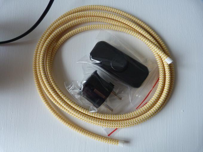 Textilkabel Schalter Stecker