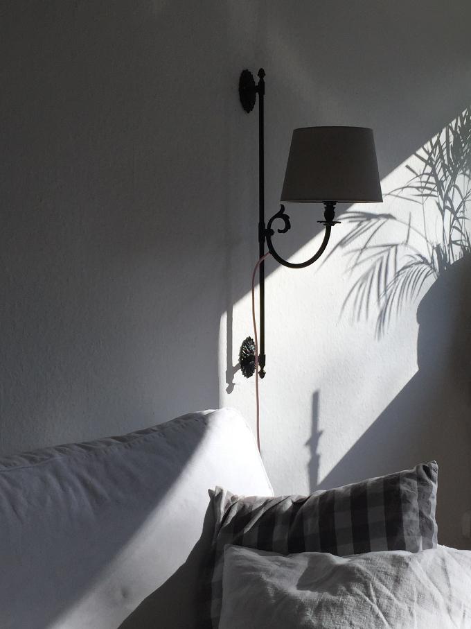 Wandlampe seitlich