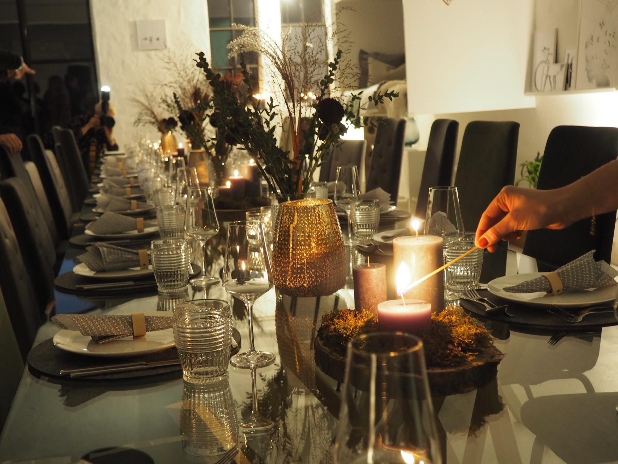 Kerzen Dinner